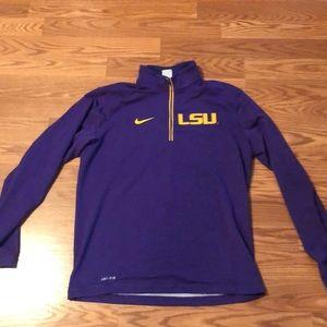 Nike Dri-Fit LSU pullover. Brand new.